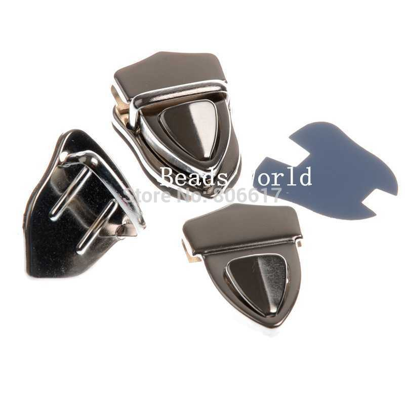 Free Shipping 5 Sets Silver Tone Purse Snap Clasps/ Closure for Purse Handbag/ Bag 43x30mm(W04394)(China (Mainland))