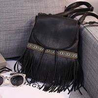 Vintage tassel new arrival leather backpacks desigual fashion  student school bag daily backpack  shoulder bags