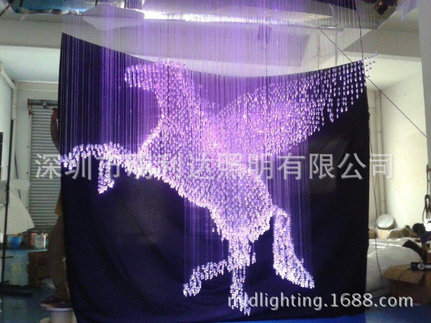 Supply LED fiber optic lights , modern hotel Pegasus crystal fiber optic lighting manufacturers, wholesale(China (Mainland))
