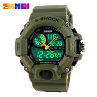 Men Military Army Watch Fashion Casual Digital Quartz Dual Time Wristwatch Relogio Relojes Male Anti Shock quartz dual time