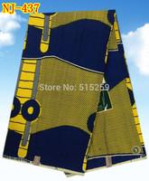 2015 Fashion high quality African real wax prints fabrics 6 yards for garment free shipping(NJ-437)