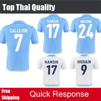 2015 Napoli Soccer Jersey MICHU HAMSIK MERTENS INLER 14 15 Napoli HIGUAIN CALLEJON HAMSIK Naples soccer Shirt Free Shipping