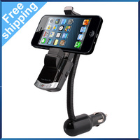 Free Shipping BT8118 Bluetooth Car MP3 Player LED Screen Wireless FM Transmitter with Smart Phone Holder and Charger