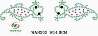 Free ship!30pc!Lizard design skate rhinestone motifs DIY motifs rhinestones WAN202