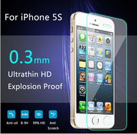 Tempered Glass Screen Protector Film For Apple iphone 5 5S 5C.Anti Shatter Film For iPhone5s Guard Without Package DHL free ship