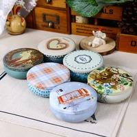 2015 NEW! 6pcs/lot Round Shape Storage Box Tin Candy Box 6 mixed designs Jewerly Box Multi-use Tea Box Hot Selling!