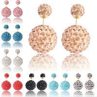 Hot Sale Double Pearl Earrings For Women Big Pearl Earrings Crystal Stud Earrings Women Fashion Jewelry PE005