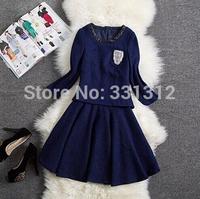 women plain dress designs long sleeve knit sexy black dress