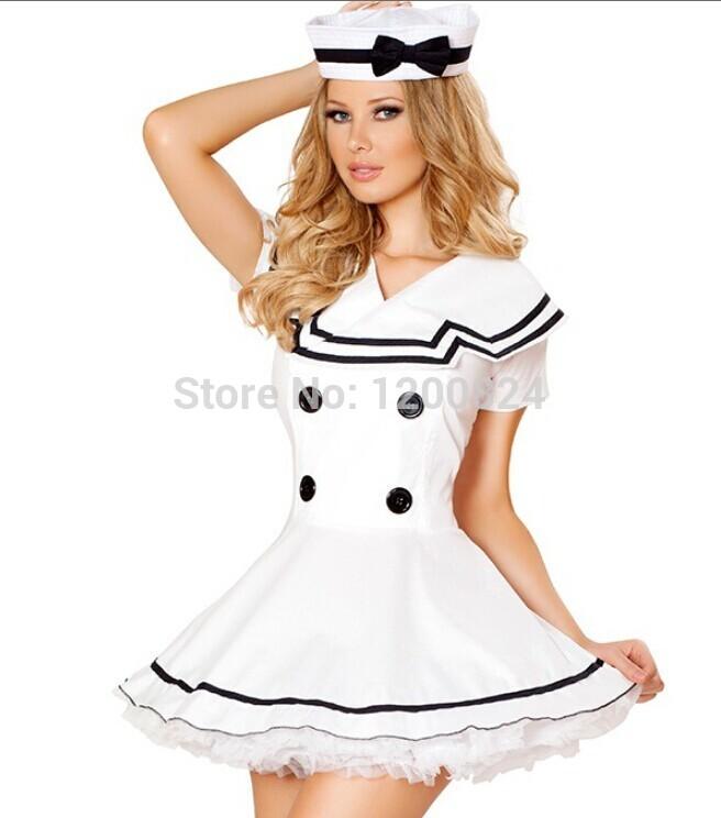 Uniforms White White Navy Uniform Cosplay