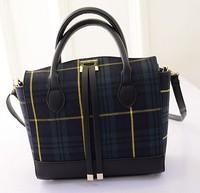 2015 New woman bag Korean fashion checkered wave bag lady bag shoulder handbag trade baodan fashion handbags wholesale