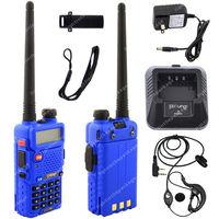 Pofung UV-5R VHF/UHF Dual Band 136-174/400-520MHz 5W FM Ham Two Way Radio  Blue LB0573