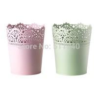 1piece green, pink color galvanized steel garden flower pot table plant pot