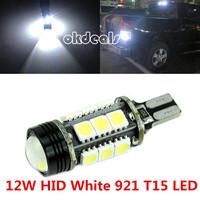 1 PCS 12W HID White 921 T15 White Backup Reverse LED Lights Projector Lens Bulbs