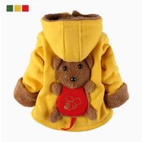 Male female child wadded jacket infant boy cotton-padded Coat plus velvet thickening cotton-padded jacket winter outerwear