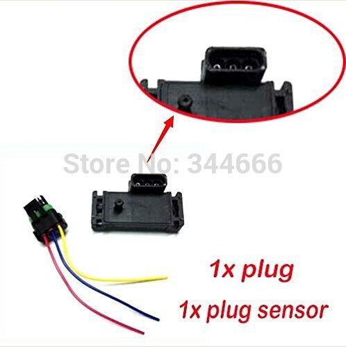 NEW GM STYLE 3BAR 3 BAR MAP Sensor For Electromotive Motec Megasquirt With Plug 16040749 / 12223861 Free Shipping(China (Mainland))