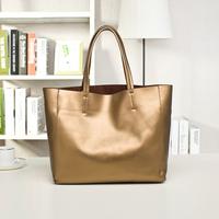 2015 women's genuine leather handbag fashion soft leather women's casual shoulder bag handbag large bag the trend of the large
