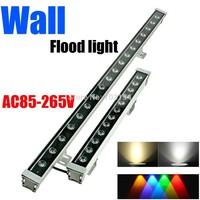 1pc 9W High power Led wall wash washer light bar lamp Outdoor Flood Floodlight IP65 Waterproof Landscape lighting Warm White RGB