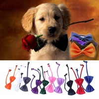 LS4G  2015 New Dog Clothes 10PCS New Lovely Cute Bow Tie For Dog Cat Pet Necktie Neck Collar