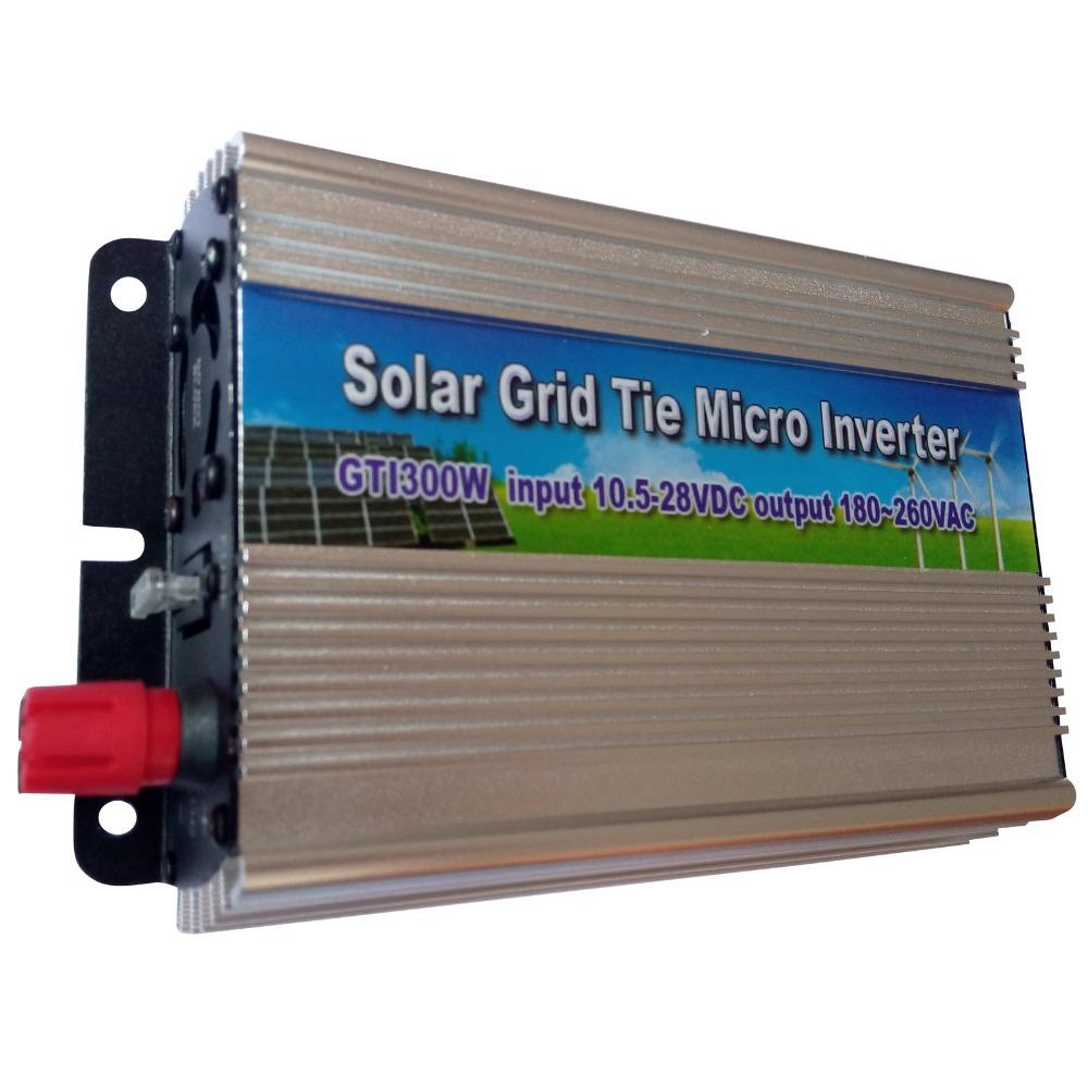 300W 90~140V DC10.5V~28V pure sine wave mini Solar Micro Inverter Grid Tie GTI300W-120VAC(China (Mainland))