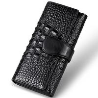 New Arrival Alligator  Women's Clutch Purse Genuine Leather Folding Wallet  Ladies Clutch Bag N8022