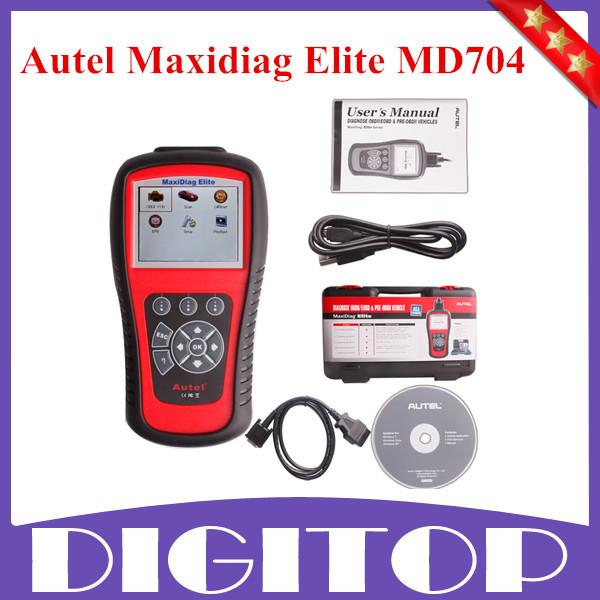 Оригинал Autel Maxidiag Elite MD704 С Функцией Data Stream Europen Vehciles Полный Обновление Системы Онлайн