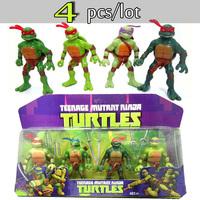 4pcs/set 2015 New TMNT Toys Anime Cartoon TMNT Teenage Mutant Ninja Turtles PVC Action Figures Toys Boys Toys Birthday Gifts