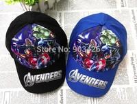 Free Shipping!100pcs/Lot ! 2015 Fashion Avengers Baseball Caps For Boy Cartoon Kids Visors Berets Cap G103 Wholesale