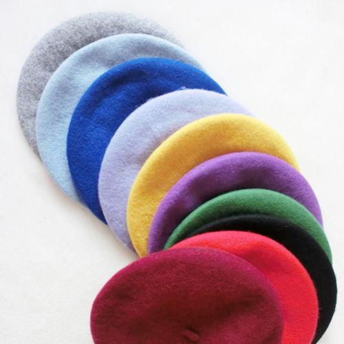 Fashion! Women French Artist Winter Felt Wool Beret Beanie Hat Ski Cap Tam Gifts(China (Mainland))