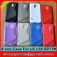 S line TPU Case for LG L50 ,S Line TPU Case Anti-skid design for LG L50 D213N,10pcs/lot,Free shipping