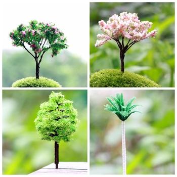 4 конструкций розничная искусственное дерево миниатюры растения фея садовый гном мосс террариум домашнего декора ремесла бонсай бутылка сад для DIY