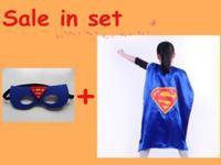 Superhero capes with mask, party favors, 15 style satin capes, , spiderman, superman, batman, Captain America