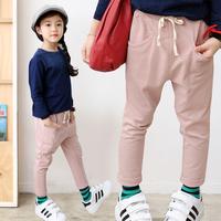 Autumn Children's Harem Pants Solid Long Casual Sweatpants For Girls Trouser Clothes Elastic Waist Kids Trousers Pantalones P104