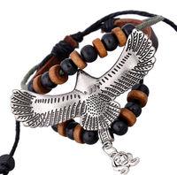 ba171 ручной работы крест кожаный Регулируемый браслет браслет бижутерия Бижутерия унисекс девочек женщина