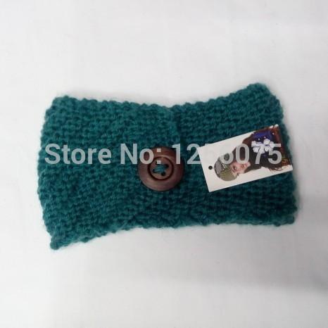 2015 NEW Button Fashion Crochet Headband Knit Hairband Winter Knitted Headwrap Warm Winter Ear Warmer Wholesale(China (Mainland))