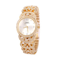 2015 Fashion Ladies Elegant Female Girl Lovely Diamond Steel Metal Punk Chain Bracelet Watch With A Quartz Watch
