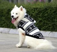 Retail High Quality Snowflake Winter Large Dog Clothes Fleece Warn Pet Clothing Coat Golden Retriever Samoyed Dog Jacket