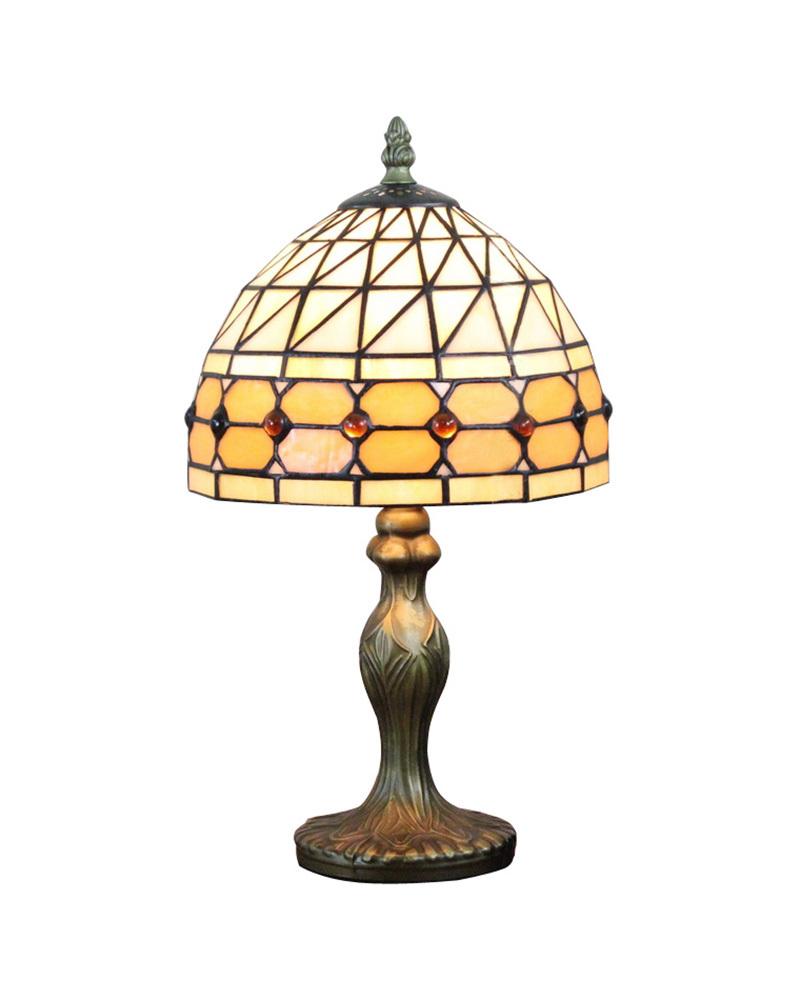 EMS Free Ship Table Lamps Yellow Tiffany Glass Desk Light Fixture Mediterranean Sea Style Bedroom E14 110V-240V(China (Mainland))