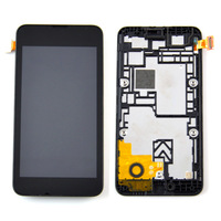 Black LCD display  touch screen digitizer assembly with frame For Nokia Lumia 530 ,free shipping!!