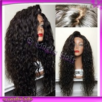 Full lace human hair wigs 130 150 density lace front wigs curly 100% virgin brazilian human hair for black women on sale