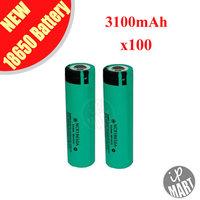 FREE SHIPPING! 100% Original NCR18650A 18650 Battery Rechargeable Li-ion Battery 3.7V 3100mAh For Panasonic 100PCS/LOT