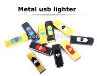 USB Electronic Lighter rechargeabe metal cigarette usb lighter Flameless USB Lighter