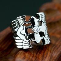 Cross titanium finger ring