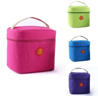 Oxford Lunch Bag Ice-cold Cooler Bag Solid Pattern Portable Handbag in Lunch Box Package Fashion Casual Picnic Bag