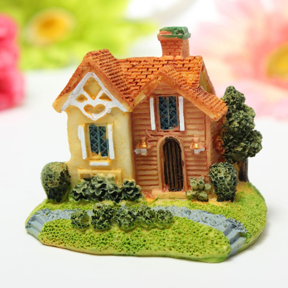 Micro landschap decoratie verdiepingen villa huizen huis accessoires hars ornamenten tuinieren - Decoratie villas ...