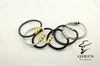 classical brand  stainless steel   men bangles special soft Steel Wire Rope fashion men bracelet