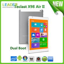 9.7″ Teclast X98 Air II Dual Boot Windows 8.1 Android 4.4 tablet pc IPS Retina 2048×1536 Intel Z3736F Quad Core 2GB 32GB 2MP 5MP