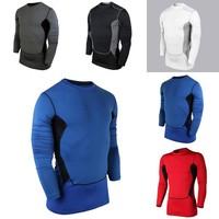 Hot Sales Sports Men Compression Base Layer Fit Sport Tight Athletic Shirt Sportwear S-XXL