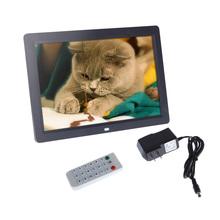 12 pollici hd TFT-LCD 1280* 800 pieno- vista digitale foto cornice sveglia mp3 mp4 giocatore di film telecomando nero/bianco(China (Mainland))