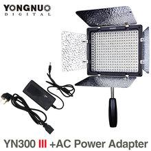 Yongnuo YN300III 5500K CRI95 LED Video Light + AC Power Adapter for DSLR Camera Photography Photo Studio lighting Lamp