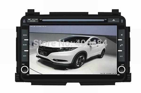 8 Inch 2DIN Car Radio Audio DVD Player GPS TV iPod Games Bluetooth For Honda VEZEL HR-V 2013+ Retail/PC Free Shipping(China (Mainland))